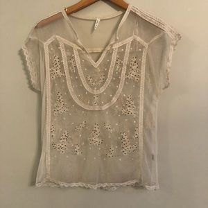 Willow and Clay lace sheer top